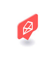 envelope mail icon symbol in isometric 3d vector image vector image