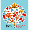 Fall season background design vector image vector image