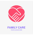 family care icon help charity hope logo vector image