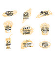 fast food restaurant icon of meal and drink sketch vector image