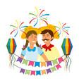 festa junina cartoon vector image