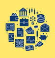 finance and money round concept in flat style vector image