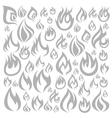 Fire a background vector image vector image