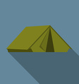 Flat design modern of tent icon camping and hiking vector image vector image