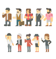 Flat design of travel people set vector image