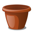 flower pot brown color isolated on a white vector image vector image