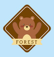 forest of the animals vector image vector image