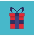gift box present flat icon vector image