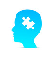 head puzzle brain on the white background vector image vector image