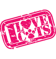 I love cats stamp vector image vector image