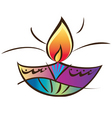 Indian diwali lamp vector image vector image