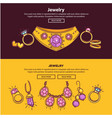 jewelry shop web banners or page flat vector image vector image
