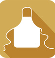 Kitchen Apron Icon vector image