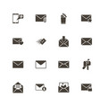 mail - flat icons vector image vector image