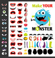 make a monster icons set vector image