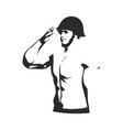 man in military uniform vector image