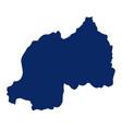 map rwanda in blue colour vector image vector image