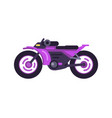 modern fast sport bike in shiny purple corpus vector image