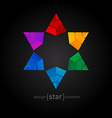 Original colorful Star made of pyramids vector image vector image