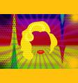 portrait woman minimalist marilyn monroe pop art vector image
