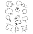Puffing exploding steaming cloud cartoon icons vector image vector image