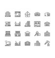 real estate flat line icons set house sale vector image