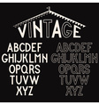 retro alphabet for labels vector image vector image