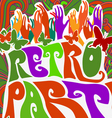retro party pattern vector image