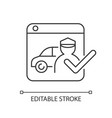 ride-hailing platforms linear icon vector image