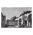 ruins of the baths of caracalla roman public vector image vector image