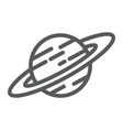 saturn line icon astronomy and space planet sign vector image vector image