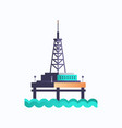 sea platform icon industrial offshore rig drilling vector image