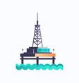 sea platform icon industrial offshore rig drilling vector image vector image
