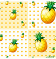 seamless background with yellow pineapples vector image
