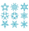 set of snowflakes2 vector image vector image