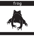 silhouette frog in grunge design style animal icon vector image