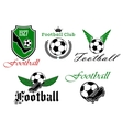 Soccer and football heraldic icons vector image vector image
