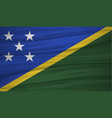 solomon islands flag flag of solomon islands vector image