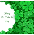 St Patrick s day background with place for your vector image vector image