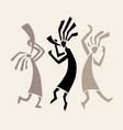 stylized musicians vector image