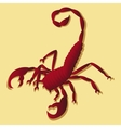 Tattoo in scorpion vector image vector image