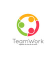teamwork logo team union on white background vector image vector image