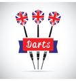 uk darts vector image vector image
