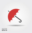 umbrella icon flat design vector image