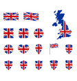 united kingdom flag icons set national symbol of vector image vector image