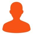 User flat orange color icon vector image vector image