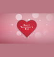 valentines day background with heart pattern and vector image