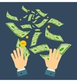 waste of money hand vector image vector image