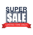 Super sale on barcode icon vector image