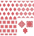 Auspicious Endless knots Chinese seamless pattern vector image